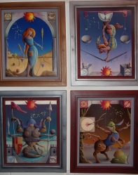 Zodiac Paintings in the Fantastic Art Room; all following paintings are from the Fantastic Art Room