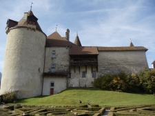 View of the castle from the French Style Garden