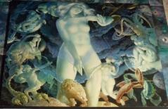 Siomash - Gaïa, déesse de la terre, dans la ronde zodiacale