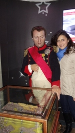 Napoleon and I at Madame Tussaud's