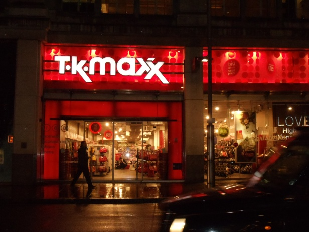 Instead of a TJ Maxx, they have TK Maxx!