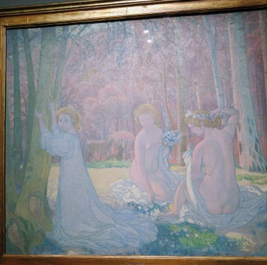 Figures in a Spring Landscape (Sacred Grove), by Maurice Denis