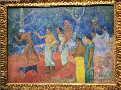Scene from Tahitian Life, by Paul Gaugin