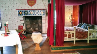 One of the royal bedrooms